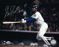 """Bill North Signed Autographed 8X10 Photo Dodgers Home Run Swing """"#4"""" w/COA"""