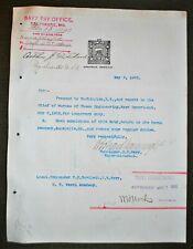 Signed 1902 USN Doc. - Sec. of Navy William H. Moody & RADM Richard Wainright