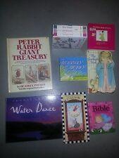 Lot of 9 Children's Books Peter Rabbit Mother Goose Bible Stories Girls Bus Love