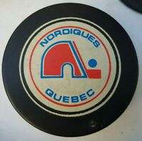 QUEBEC NORDIQUES VINTAGE VICEROY NHL OFFICIAL GAME PUCK MADE IN CANADA *hole