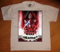 Star Wars The Last Jedi Personaliz​ed Birthday Party Favor Gift T-Shirt - NEW
