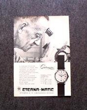 L558- Advertising Pubblicità -1957- ETERNA MATIC , CENTENAIRE
