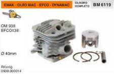 CILINDRO E PISTONE MOTOSEGA EMAK OLEO MAC 938 EFCO 138 DYNAMAC Ø 40 mm
