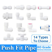 1/4'' Push Fit Pipe Water Filter Connector Fittings Valve For Aquarium Fish Tank