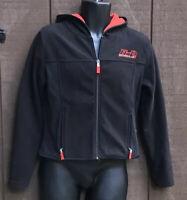 HARLEY DAVIDSON Woman's Full-zip Hoodie Fleece Jacket SMALL Black