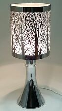 Fragrance ** Stainless Steel Table Touch Lamp Tree (White) Silver color