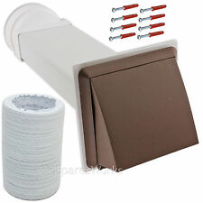 """Wall Outlet 4"""" 100mm Brown Venting Kit For Bosch Tumble Dryer Vent External"""