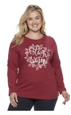 Sonoma shirt Womens Plus Size 4X Red christmas Shirt
