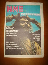 NME 1986 JUL 26 ZODIAC MINDWARP JOE STRUMMER SID NANCY