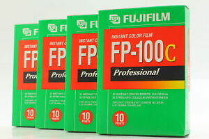 【New Expired BOX 2004/11】 4 Packs FujiFilm FP-100C Instant Color Film from Japan