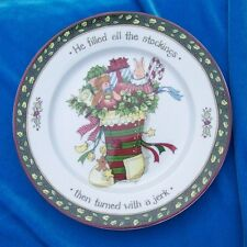 Portmeirion Studio Christmas Story Dessert Salad Plate He filled all Stockings