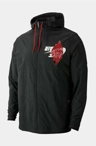 Nike Air Jordan Jumpman Wings Classics Black Logo Jacket BQ8476-010 XL (13)