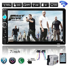 "7"" 1080P HD 2DIN Bluetooth Touch Screen Car Stereo Radio MP5 MP3 Player +Camera"