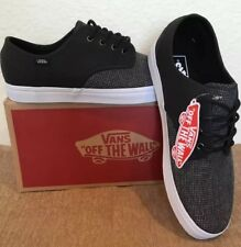 New In Box Men's Size 11.5  Vans Madero Premium Leather 2 Tone Twill Suiting