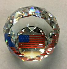 New listing Swarovski American Flag Paperweight - 40 Mm - Mint in Box - Support Usa