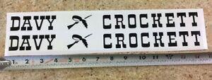 Davy Crockett Radio Flyer Coaster Wagon Pull Toy Replacement Stickers WA-008