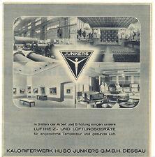 Dessau alte Werbung Kaloriferwerk Hugo Junkers 1939 deko Luftfahrt