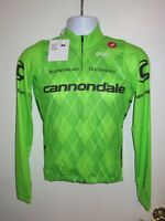 NEW CASTELLI Cannondale UCI Pro Cycling Team Long Sleeve Jersey Jacket Small S
