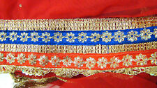 Sheer Red Table Runner Saree Sari Belly Dancing Hip Scarf Gold Trim Sequins