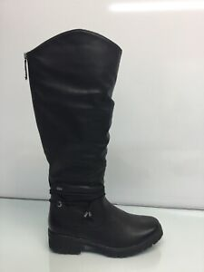 Spring Step Vanquish-B Tall Black Leather Boots Women's Size US 9(40). ⭐️