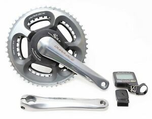 SRM PC7 Shimano Dura Ace FC-7800 Single Side Power Meter Crankset 177.5mm 53/39T
