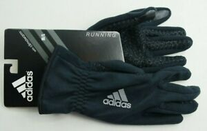 adidas Men's Gloves Black M/L Active Running Reflective Tech Touch climawarm
