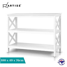 Artiss Hall Console Table Entry Hallway Side Table Book Shelf Display Wooden