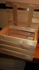 Reclaimed Pine Wooden Single Crate WITH LID- Rustic Shelf Display-Storage