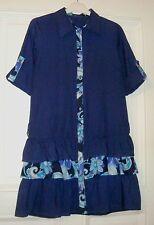 Damen Sommer Kleid Krempelarm BESCABES Gr. 36/38 blau