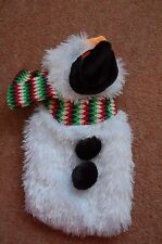 New Snowman Xmas Extra Small Dog Coat Hook & Loop Straps Top Hat Holly Carrot