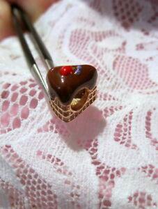 Kawaii Cake Charm Bead Pendant~Rose Gold / Sterling Silver / CZ's~European