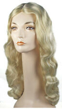 Synthetic Role play Reenactment Peluca or Crossdresser Costume Blong Wig