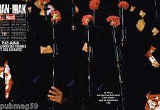 Coupure de Presse Clipping 1988 (8 pages) Iran Irak guerre des femmes et enfants