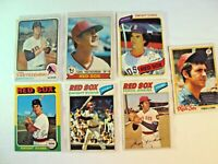 Lot 7 Topps 1970's Boston Red Sox Lot 1973 #245 Carl Yastrzemski Dwight Evans