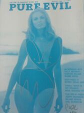 PURE EVIL  BUNNY GIRL MAGAZINE BLUE - SIGNED/NUMBERED LIMITED EDITION (AP) PRINT