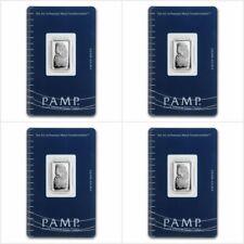 4 x Lingot PAMP 5g argent pur 999 / 4 x PAMP Fortuna 5 grams Fine Silver 999 Bar