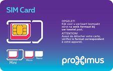 Carte Sim Proximus Pay&Go+ Pay&Go Plus - nouveau numéro + 10 € de crédit