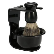 3-IN-1 Men Shaver Shaving Brush Safety Razor Steel Stand Holder Bowl Travel kit