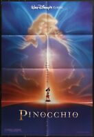 Walt Disney PINOCCHIO VINTAGE ORIGINAL FF 1992 1-SHEET MOVIE POSTER 27 x 41
