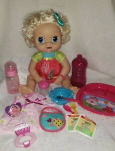 Baby Alive My Real Doll Curly Hair Works Original Accessories Cup Food Lot 4