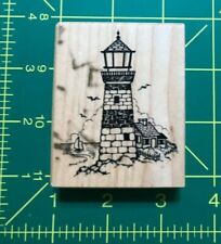 Lighthouse Wood Block Mounted Rubber Ink Stamp ~ Psx F-1145