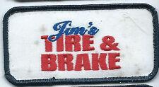 Jims Tire & Brake Maclester OK employee patch 2 X 4 #65