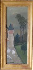 """Claude SCHURR (1921-2014) HsP 1948 """"Le Château"""" Ne École de Paris Jeune peinture"""