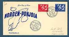"""FINLAND - FINLANDIA - 1956 - FDC -  """"Norden '56""""Giornata dei Paesi del NordE2766"""