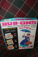 Walt Disney's Mary Poppins Magic Picture Transfers Rub-Ons in Orig Box