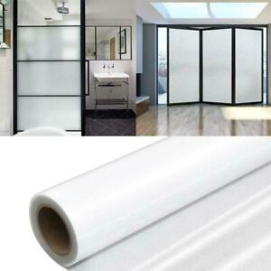 Frosted Window Glass Sticker Window Film Removable Protect Privacy Y2S4