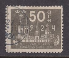 Sweden Scott 206 F/Vf Used 1924 50o Universal Postal Union Congress Scv $32.50
