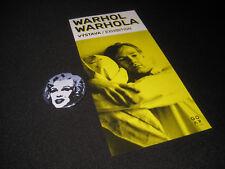 Andy Warhol Badge Exhibition Flyer Banksy Dismaland Art Collectible Memorabilia