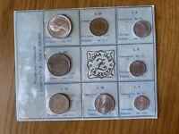 SERIE REPUBBLICA ITALIANA 8 MONETE 1968 FDC LA ZECCA ROMA 500 LIRE ARGENTO