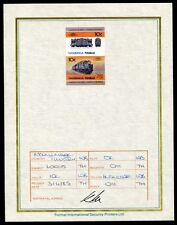 TUVALU RAILWAYS U.K. COPPERNOB LOCO PROGRESSIVE PROOF 1985